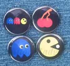 Pac Man Collection of Buttons Pin Badges Geek Gaming Gamer Retro 80s Kitsch