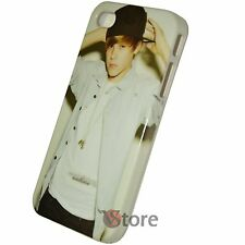 Cover Custodia Per iPhone 4S e 4 Justin Biebus + Pellicola Proteggi Display