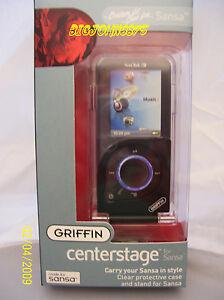 Griffin Centerstage Hard Case for Sansa E200 Black 8105-SNSTNDP