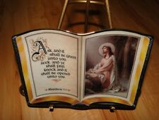 Ask and it shall be given Jesus Christ Bible Plate