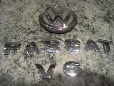 1999 VW PASSAT V6 REAR TRUNK CHROME EMBLEM BADGE LOGO SET