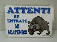 Cartello targhetta avviso umoristico humor cane casa 20x30 cm M310