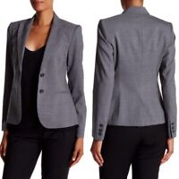 THEORY Nichelle Broadway Gray Wool Two-Button Blazer Size 8
