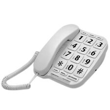 LeeKer LK-P011W Big Button Amplifier Corded Phone for Elderly Hearing Impaired