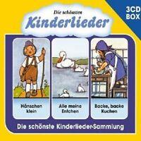 DIE SCHÖNSTEN KINDERLIEDER - 3-CD LIEDERBOX VOL. 1 (3 CD) ++++++58 TRACKS+++ NEU