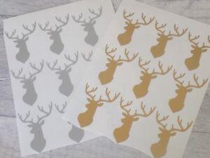 Stag Christmas Bauble Vinyl Decal Sticker DIY Wine Glass Envelope seal Scrapbook