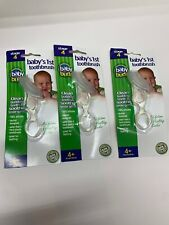 (3)Baby Buddy Baby's 1st Toothbrush Stage 4 for Babies/Toddlers ~Clear