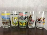 Lot of 5 Preakness Frosted Glasses Pimlico Horse Racing 106 107 113 115 116