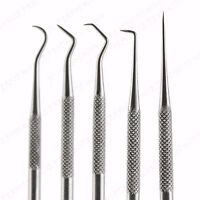 5 PC STAINLESS STEEL PROBE PICK SET KIT DE SOLDERING ELECTRONICS REPAIR WIRING