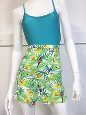 NEW American Apparel Lulu Tropical Paradise Zip Back Circle Skirt Size: M Medium
