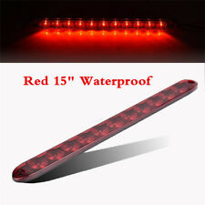 1Pcs Red 11LED Light Bar Stop Turn Tail Light 3rd Brake Light Truck Trailer 15""