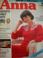burda Knitting & Needlecraft - ANNA Sept 1989 - knit crochet embroidery lace VGC