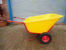 NEW XL Wheelbarrow 300 L Large garden stable yard double wheeled fully assembled