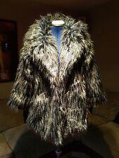 Festival Boho Faux fur emu effect jacket coat size M