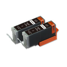 2 Pk Big Black Ink Cartridge w/ LED for PGI-250XL iP7220 MG6420 MX922 MX722