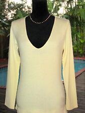 Brunello Cucinelli *Super~SOFT Ivory Cashmere V-Neck Sweater L 12 FR44