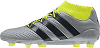 adidas Ace 16.1 Primeknit Firm Ground Mens Football Boots - Silver