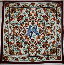 Hand stitched Egyptian colorful applique quilt patchwork/wall hanging Tapestry