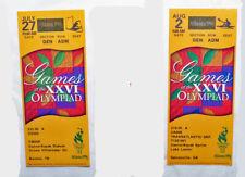1996 Atlanta Olympics CANOE/KAYAK  SLALOM & SPRINT used ticket set