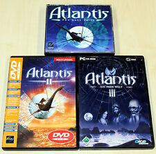 3 PC juegos colección-Atlantis 1 2 3 Lost valle nuevo mundo II III-Adventure