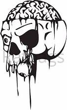 Flaming Skull Autocollant 30 cm x 18 cm Graphique toutes les couleurs Autocollant Vinyle-Crâne 070