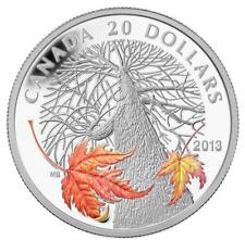 2013 0.999 Fine Silver $20 Coin Canadian Maple Canopy Autumn