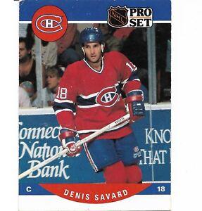 Hockey Card DENIS SAVARD 1990 91 PRO SET #473 Eishockey NHL Montreal Canadiens