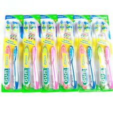 Gum Supreme 6 Pack Toothbrush Soft Bristles Assorted Colors