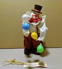 RARE VINTAGE Wind up Animated Musical Clown with Balloons TOY w/Tags Mid Toy EXC
