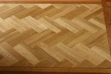 Herringbone European Oak Parquetry Flooring 450x90x18mm SOLID TIMBER SELECT