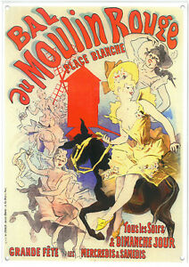 French Provincial - Moulin Rouge  A4 Metal Repro Sign 010140