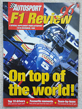 AUTOSPORT 1996 F1 Grand Prix Racing Review