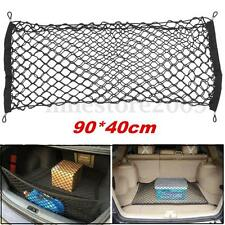 Car Trunk Rear Cargo Organizer Storage Elastic Mesh Net Holder 4 Hooks 90x40cm