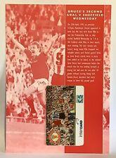 Manchester United Phone Card 1996 Intercard Steve Bruce Sheffield Wednesday