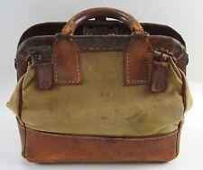 Antique Leather & Canvas Mail  Valuables Abbott Coin Bullion Bag