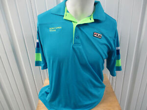 VINTAGE FILA MIAMI SONY OPEN TENNIS CHAMPIONSHIPS TEAL MEDIUM SHIRT 2007