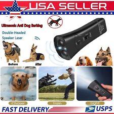Ultrasonic Anti Dog Barking Device Pet Trainer LED Light Gentle Chaser Style USA