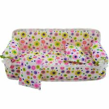 Furniture Sofa Couch +2 Cushion Bolster For Barbie ken Doll Dollhouse Accessory