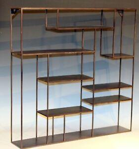 """Display Shelf Steel MCM Metal Case Tabletop Hanging Curio Cubby 30"""" x 30"""""""
