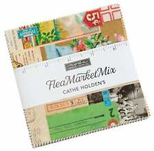 "Moda, Flea Market Mix, 5"" Charm Pack, Fabric Quilt Squares, 7350PP, SQ07"