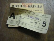 MIREILLE MATHIEU BILLET DE SPECTACLE BELGIQUE 1970 3
