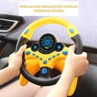 Steering Wheel Toy Co-Pilot Simulation Steering Wheel Kids Educational Funny Toy