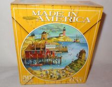New Art on the Bay Round Jigsaw Puzzle Ceaco  517 pc. Age 12+ Made in U.S.A.