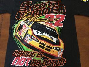 2004 Vintage NASCAR Shirt Caterpillar Racing Scott Wimmer NOS All Overprint Lrg