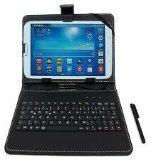 Black PU Leather Case w/ Micro USB German Keyboard for Samsung Galaxy Tab A 8.0