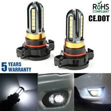 NEW 5202 H16 LED Fog Light Bulbs 6000K Xenon White 100W 16000LM High Power Pair