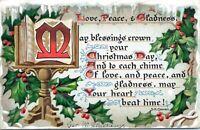 1912 Raphael Tuck Yuletide 104 Christmas Poem S.K. Cowan Embossed Postcard HA