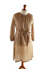 11f0cb41a68e86 Vintage orig 60er 70er Schlager Stretch Kleid beige Blumen Mille fleur 46