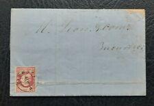 ROMANIA 1868 CAROL I 18bani ON ENTIRE LETTER  FROM PITESCI TO BUCURESCI . MI#20