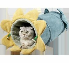 Pet Dog Cat Play Tunnel Cat Sofa Bed House Cushion Mat Sleeping Bag Tent Kitty